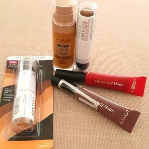 Makeup and lip paint matte